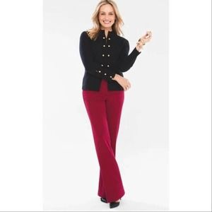 NEW Chicos So Slimming Trouser Pants Enamel Red 2